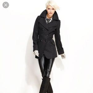 Guess Wool Blend Cutaway Coat